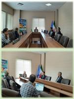 دیدار مدیرعامل شرکت توزیع نیروی برق با سرپرست هواشناسی استان مرکزی