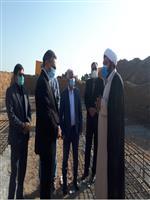 بازدید نماینده  مردم شریف ساوه، زرندیه و غرق آباد به همراه فرماندار ویژه شهرستان ساوه از پروژه ساختمان اداره هواشناسی شهرستان ساوه