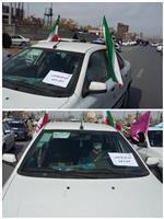 حضور مدیرکل هواشناسی استان مرکزی در راهپیمایی خودرویی و موتوری 22 بهمن